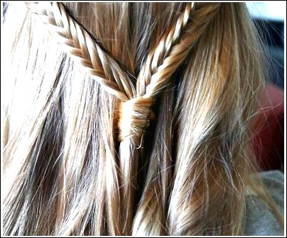 Braid Hair Ideas: Seidiges Fishtail-Band und lockige Locken