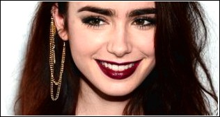 Casual Daily Haircut: Lily Collins - Schulterlange, gerade Frisur