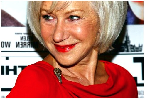 Shiny, Blond, Layered Bob für Frauen über 60 - Helen Mirren Frisuren