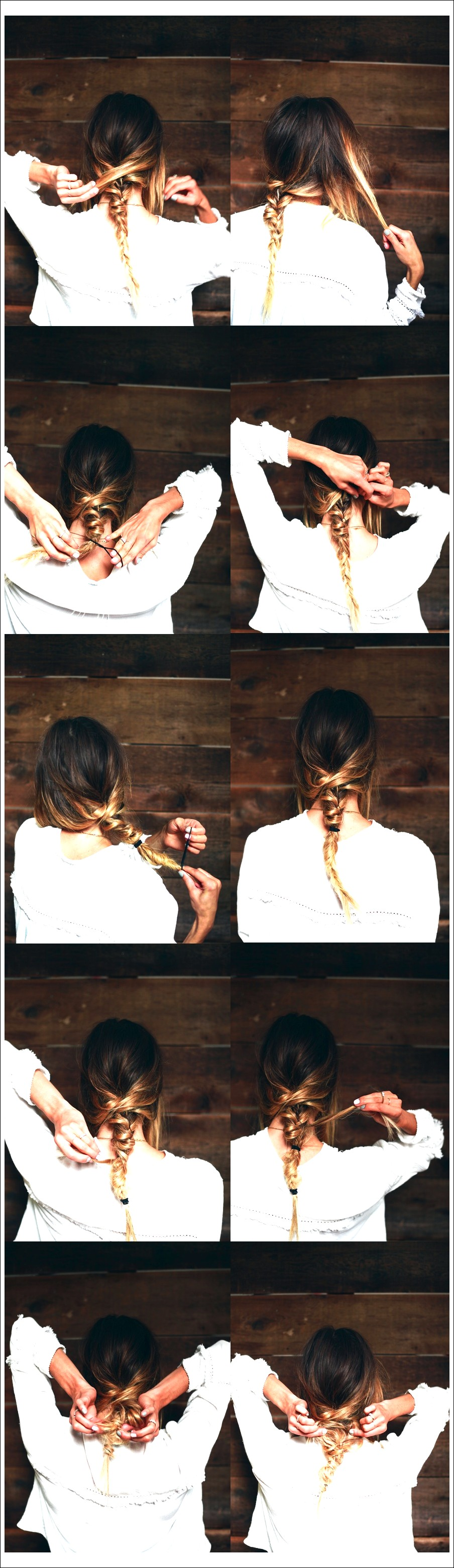 Sommerhaar-Inspiration: Messy Ombre Fishtail Braid!